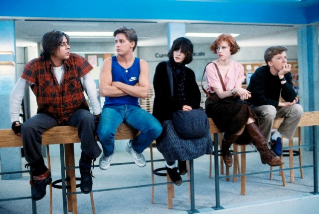 Judd Nelson, Emilio Estevez, Ally Sheedy, Molly Ringwald and Michael Hall